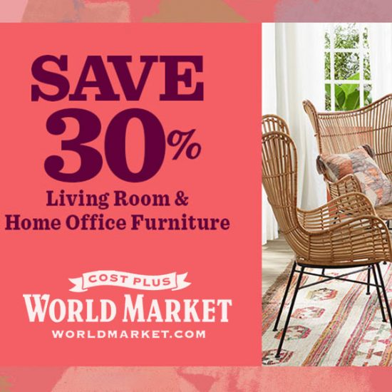 30% Off Living Room & Home Office Furniture w/ Code