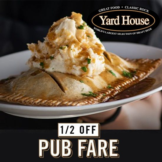 50% Off Pub Fare Menu Items w/ Coupon or Code