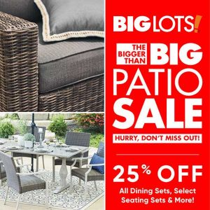 25% Off All Dining Sets, Select Seating Sets and More Furniture for Your Patio