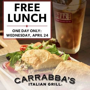 [Ends 4/24] Free Lunch Entrée When You Order 1 Lunch Entrée