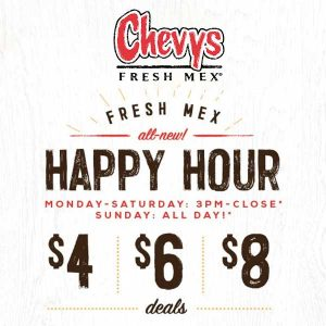 Fresh Mex for $4, $6 or $8 Only During Happy Hour