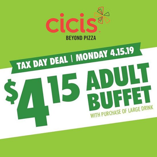 $4.15 Adult Buffet on Tax Day