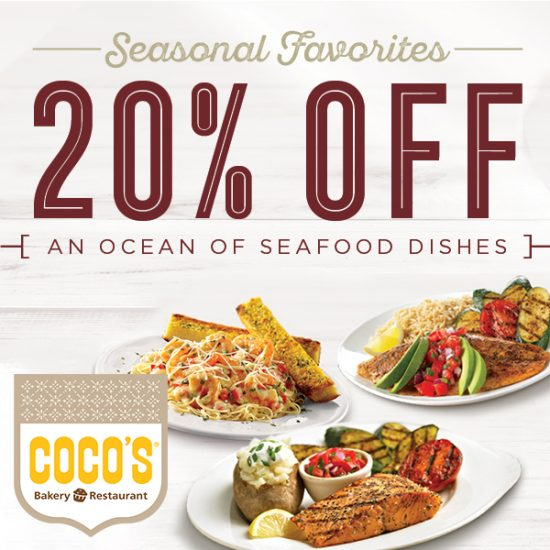 20% Off Seafood Entrées With In-Store Coupon
