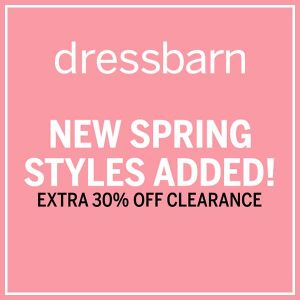 Extra 30% Off Clearance w/ New Styles Added