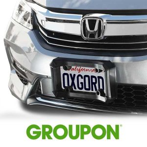 60% Off Universal Bumper Guard Protector Car License Plate Frame