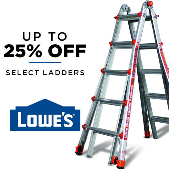 Up to 25% Off Select Ladders