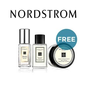 3 Free Deluxe Samples w/ $130 Jo Malone Purchase
