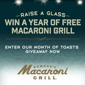 Win a Year of FREE Macaroni Grill