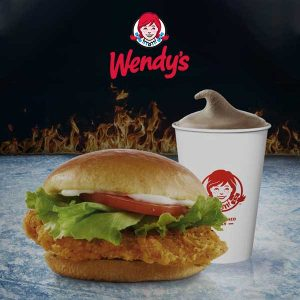 FREE Frosty w/ Spicy Chicken Combo Orders on Game of Thrones Sundays