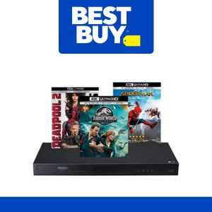 $199.99 LG 4K Blu-Ray Player and 3 4K Movies