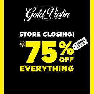 Store Closing Sale: Up To 75% Off Everything