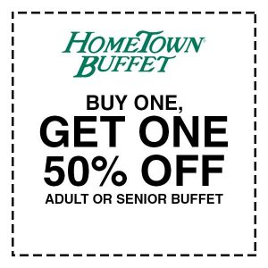 Buy 1, Get 1 50% Off Adult or Senior Buffet