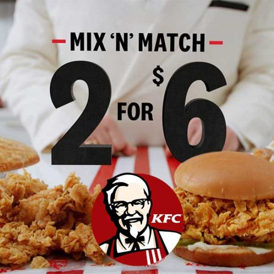 2 for $6 Mix & Match