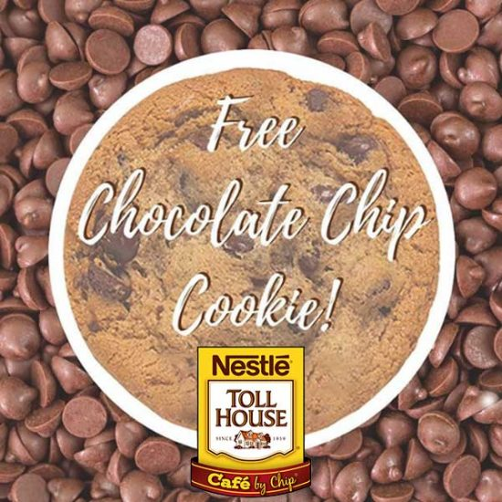 Today Only: Free Chocolate Chip Cookie