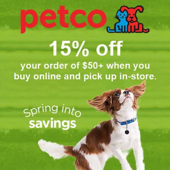 [Ends 5/16] 15% Off $50 or More Purchase