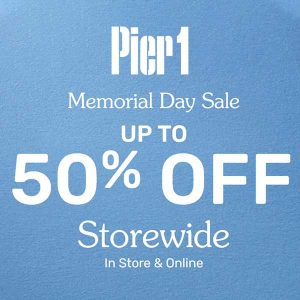 Memorial Day Sale: Up to 50% Off Storewide