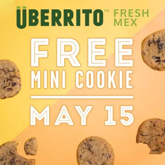 Free Mini Chocolate Chip Cookie w/ Entree Purchase