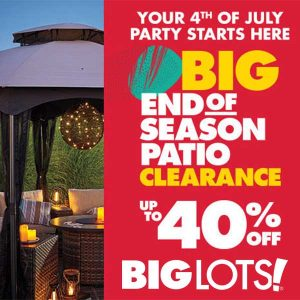 Up to 40% Off End of Season Patio Clearance