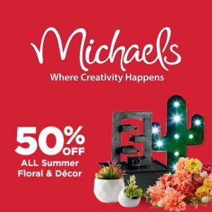 50% Off Summer Floral & Decor