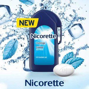 Free Nicorette Mint-Coated Lozenge Sample