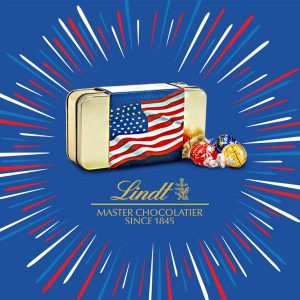 $8.99 American Flag Lindor 12-Piece Gift Tin