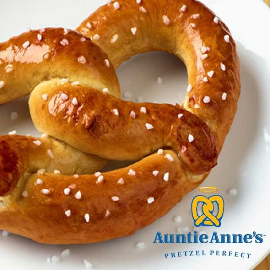 Free Sweet or Salty Pretzel