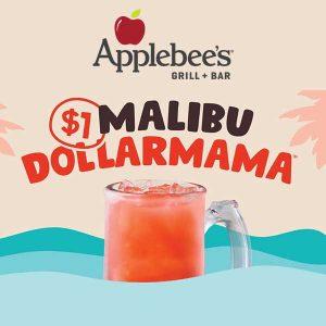 $1 Malibu Bahama Mamas All Throughout July
