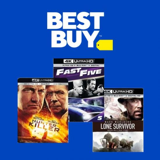Get 2 Select 4K UHD Blu-Ray Movies, Get 3rd Free
