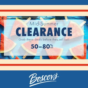 50% to 80% Off in Mid-Summer Clearance Sale
