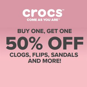 Buy 1, Get 1 50% Off Clogs, Flips, Sandals & More