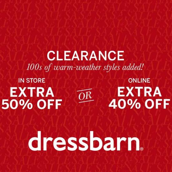 Extra 50% Off In Store + Extra 40% Off Online