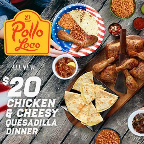 $20 Chicken & Cheesy Quesadilla Family Dinner