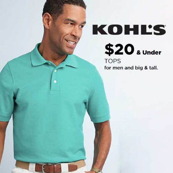 $20 & Under Tops for Men, Including Big & Tall Styles