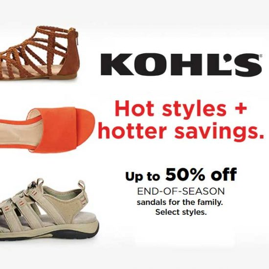 Up to 50% Off End of Season Sandals for the Family