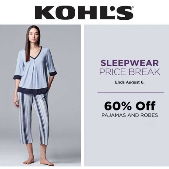 60% Off Pajamas and Robes