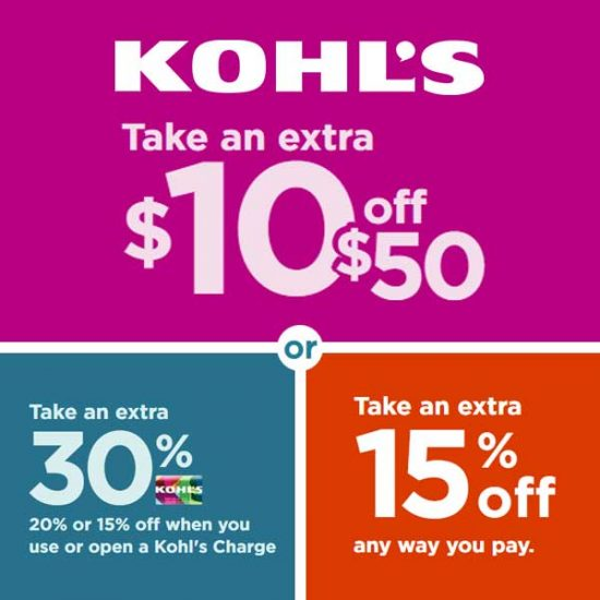 $10 off $50 + Up to Extra 30% Off + Extra 15% Off