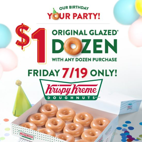 $1 Original Glazed Dozen w/ Any Dozen Purchase