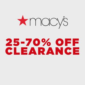 25% to 70% Off Clearance Items
