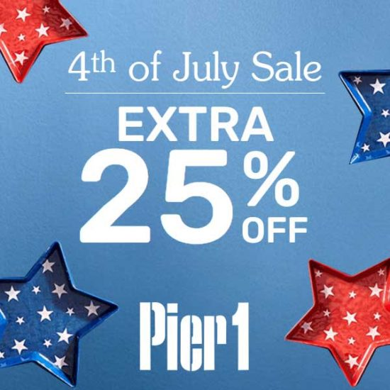 Extra 25% Off Regular, Clearance and Sale Items