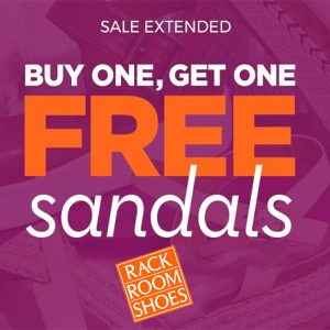 Buy 1, Get 1 Free Sandals for the Family