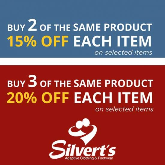 2 Items 15% Off Each Item or 3 Items 20% Off Each Item