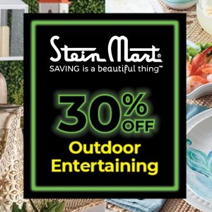 30% Off Outdoor Dining & Entertaining