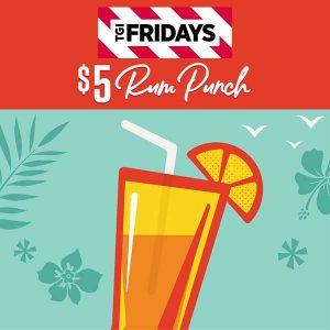 All July: $5 Rum Punch & $3 Summer Shandy