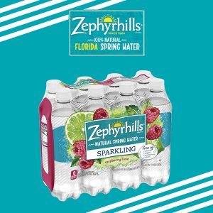 Free Pack of Zephyrhills Sparkling Spring Water
