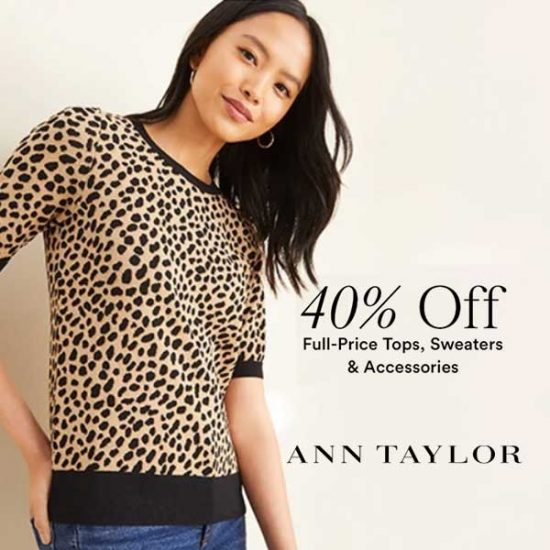 40% Off Tops, Sweaters and Accessories With Code