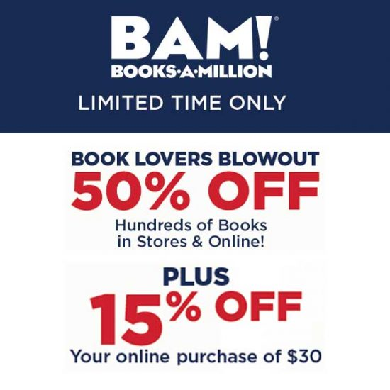 50% Off Hundreds of Books + 15% Off $30+ Online