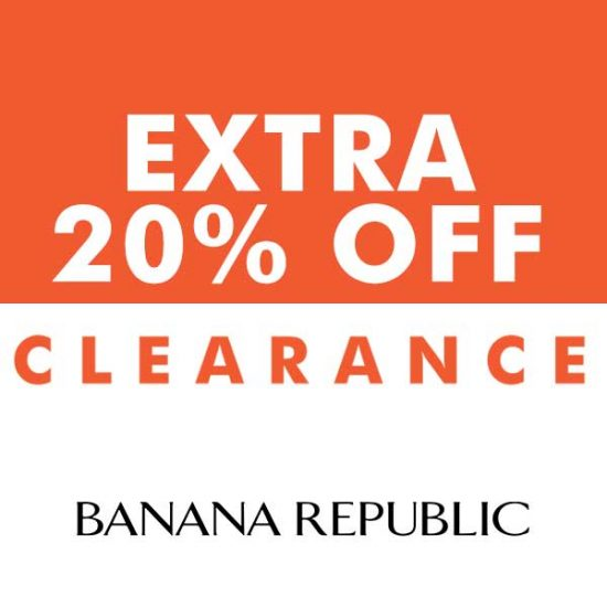 Ends Today: Extra 20% Off Clearance