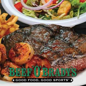 $12.99 Sirloin With Shrimp, Fries and Salad
