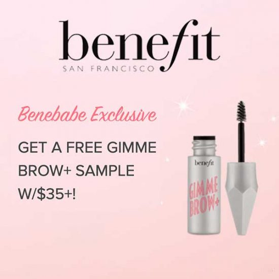 Free Gimme Brow+ Sample with $35+ Purchase