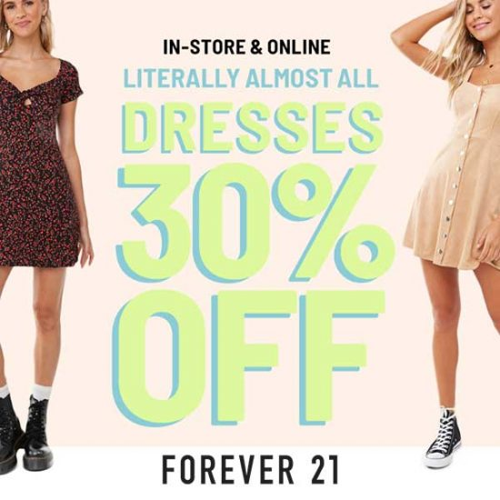 Almost All Dresses at 30% Off w/ Code
